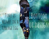 Time is Wonky in a Faberge Egg Leggings - bottom half of design