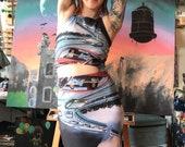 Retro Future Pencil Skirt (Just the Bottom of 'Creep, Careful')