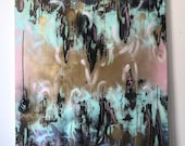 Gold Flaked Cotton Candy original painting
