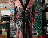 Floating Black Rocks Kimono Style Robe