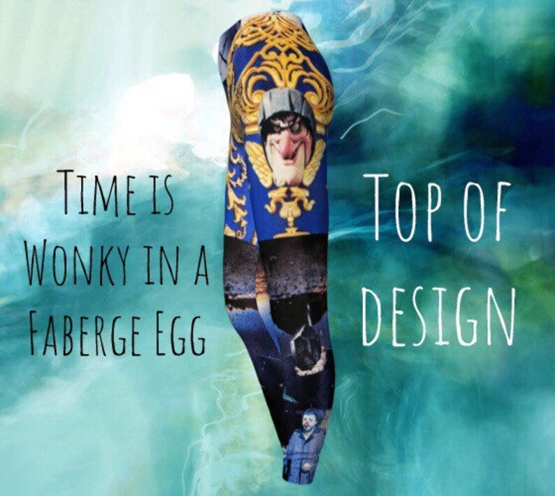 Time is Wonky in a Faberge Egg Leggings top of the design image 1