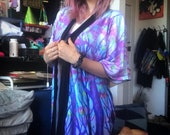 Purple Treetops Kimono Style Robe