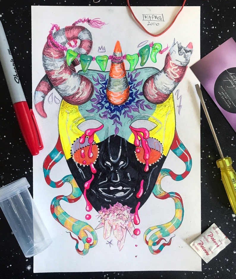 What's Happening Behind the Mask Original art image 0