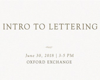 Intro to Lettering Workshop