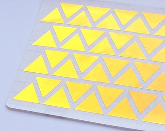 44 Metallic Gold Triangle Stickers, Triangle Planner Stickers, Envelope Seal, Party Stickers, Wedding Stickers, Birthday Stickers,Invitation