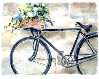 FLOWER DELIVERY - Flowers can make even an old bicycle more attractive. A vintage bike in a charming European setting is a timeless scene!