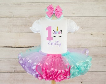 65ab9cfd8 Birthday Unicorn Outfit, Girls 1st Birthday Outfit, Pink Unicorn Outfit, Unicorn  First Birthday Outfit, Unicorn Dress, Unicorn Shirt
