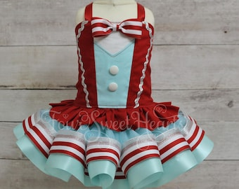 Circus Birthday Outfit, Carnival Outfit Girl, Girl Ringmaster Costume, Circus Dress, Ringmaster Outfit Girl, Circus Birthday Girl