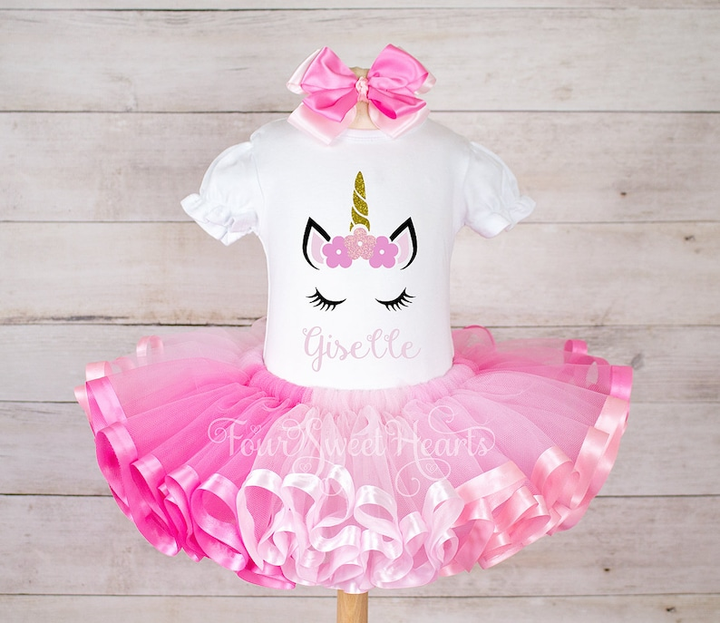 c77efc47d Birthday Unicorn Outfit Girls 1st Birthday Outfit Pink | Etsy