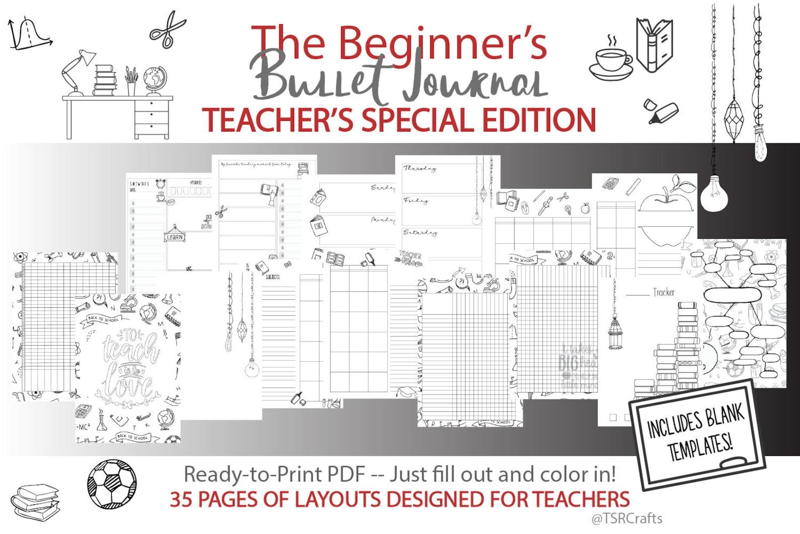 Beginner's Bullet Journal For Teachers