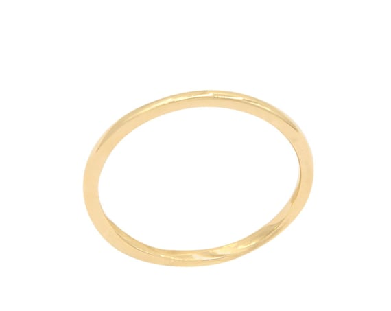 Thin Gold Ring, Thin Wedding Ring, Knuckle Ring, Gold Ring, Gold Band Ring, Dainty Ring, 1,2 mm Band, Thin Wedding Band, Gold Stacking Ring