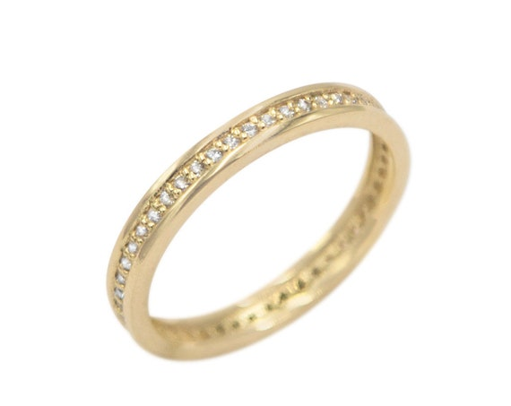 Gold Eternity Band, Eternity Ring, Cz Band Ring, Thin Stacking Ring, Wedding Band Ring, Engagement Ring, Eternity Band, Gemstone Band