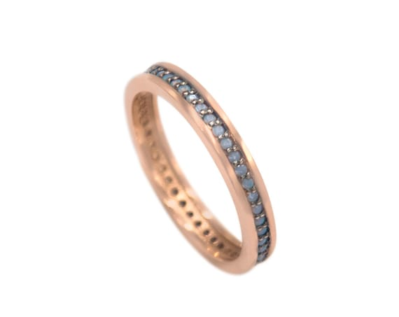 Gold Eternity Band, Eternity Ring, Opal Band Ring, Thin Stacking Ring, Wedding Band Ring, Engagement Ring, Eternity Band, Opal Ring