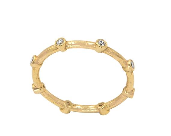 Diamond Engagement Ring, Diamond Ring, Matte Diamond Ring, Diamond Bezel Ring, Diamond Eternity Ring, Eternity Ring, Hammered Diamond Ring