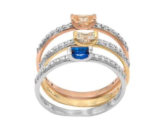 Gold Baguette Ring, Baguette Ring, Baguette , Engagement Ring, Promise Ring, Baguette Dainty Ring, Gold Wedding Ring, Gold Stacking Ring