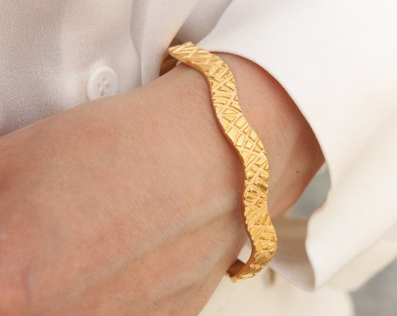 Ancient Greek Bracelet, Gold Bangle Bracelet, Meander Bracelet, Silver Cuff Bracelet, Open Bangle, 7mm Gold Bangle, Bangle Bracelet,