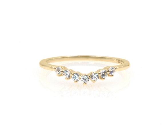 Diamond Cluster Ring, Diamond Ring, Half Eternity Ring, Wedding Ring, Engagement Ring, Tiny Cluster Ring, Rose Gold Ring, Gold Cluster Ring