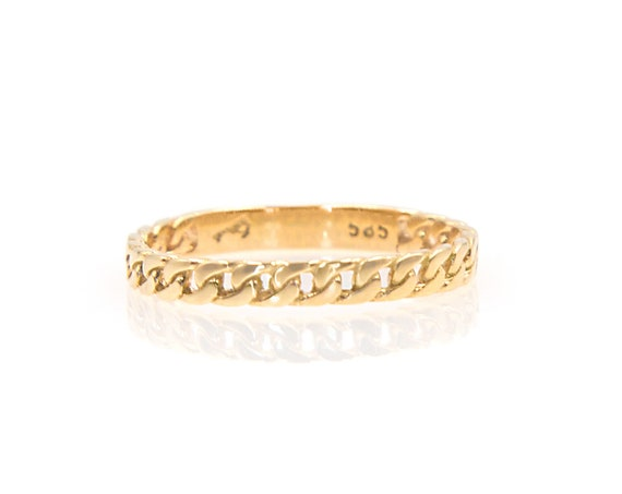 Solid 14kGold Ring * Chain Ring * Dainty Chain Ring * Curb Chain Ring * Gold Ring Chain * Stackable Chain Ring * Eternity Chain Ring * Ring