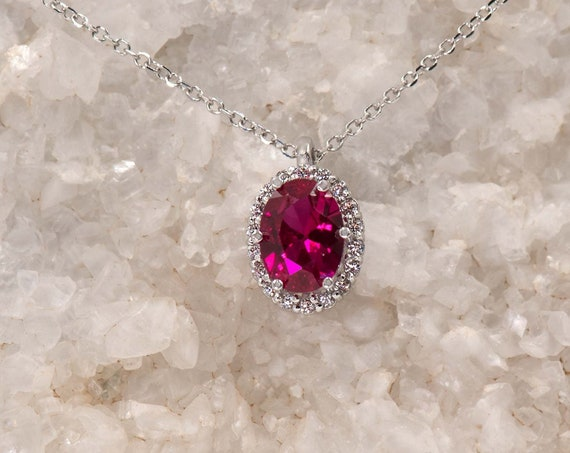 Oval Halo Pendant, Coloured Pendant, Gemstone Pendant Gold, Oval Halo Charm, Birthstone charm, Coloured Cz, Halo Pendant, Gemstone Jewelry
