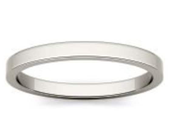 Thin Gold Band, Flat Band Ring, Mens Gold Band, Solid Gold Band, 2.2 mm Band Ring, Gold Wedding Band, Gold Stacking Ring, 9k Gold Band