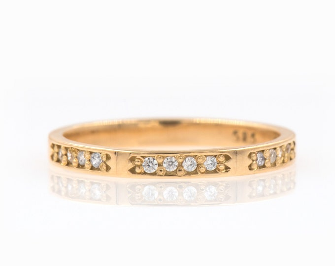 Half Eternity Ring, Diamonds Ring, Diamond Wedding Band, Thin Diamond Ring, Stackable Diamond Ring, Gold Eternity Band, Real Diamonds Ring