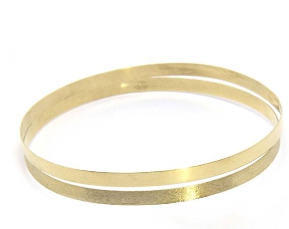 Gold Bangle Bracelet, Solid Gold Bangle, Jewelry Gift for Her, Wide Gold Bangle, 3 mm Gold Bangle, Stacking Bracelet, Cuff Bracelet