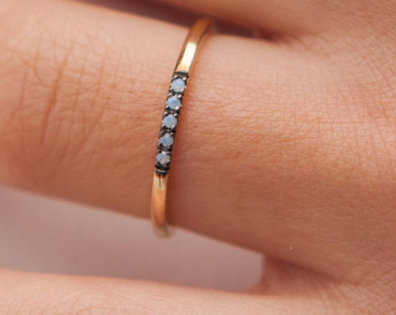 Opal Ring, Gold Opal Ring, Fire Opal Ring, Opal Band, Australian Opal Ring, Birthstone Ring, Opal Engagement Ring, Opal Wedding Ring,5 opals