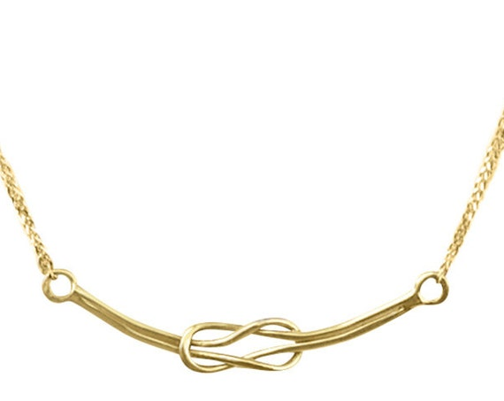 Gold Knot Necklace, Sailor Knot Necklace, Infinity Knot Charm, 14k Handmade Necklace, Hercules Knot, Inspiration Jewelry, Inspirational
