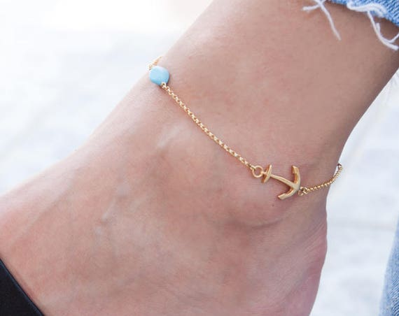 Silver Anchor Anklet, Sideways Anchor, Ankle Bracelet, Anchor Anklet, Anchor Bracelet, Foot Jewelry, Beach Jewelry, Summer Anklet, Beaded