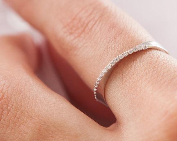 Mobius Ring, Gold Infinity Ring, Diamond Ring, Mobius Wedding Band, Gold Mobius Band, Diamond Mobius Ring, Engagement ring, Gold Band 2,7 mm