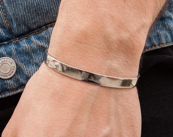 Gold Bangle Bracelet, Silver Cuff Bracelet, Open Bangle, Hammered Bracelet, 7mm Gold Bangle, Bangle Bracelet, Cuff Bracelet, Open Cuff