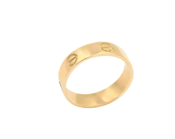 Gold Band Ring, Gold Wedding Band, Solid gold 14k Ring, Flat 5 mm Gold Band, Mens Wedding Band, 14k Band Ring, Wide Band Ring, Engraved Ring