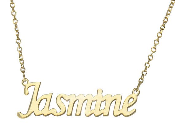 Gold Name Necklace, Baby Name Necklace, Custom Name Necklace, Initial Name, Personalized Jewelry, Baby Name Jewelry, Name Necklace Gold