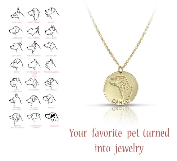 Custom Pet Portrait Dog Necklace Pet Loss Gift for Mom Dog Mom Memorial Pet Jewelry Pet Gift Dog Grandma Unique Pet Gift Personalized Dog