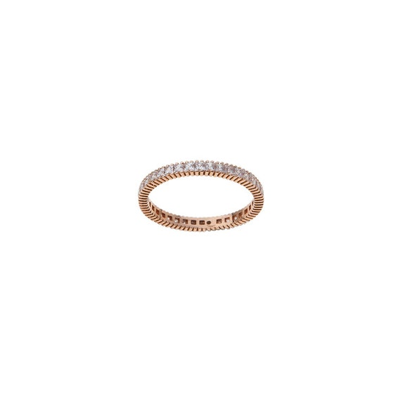 Gold Eternity Band, Gemstones Band, Princess cut Ring, Gold Eternity Ring, Square cz Pave Band, Stacking Band Ring, Wedding Ring, Cz Ring