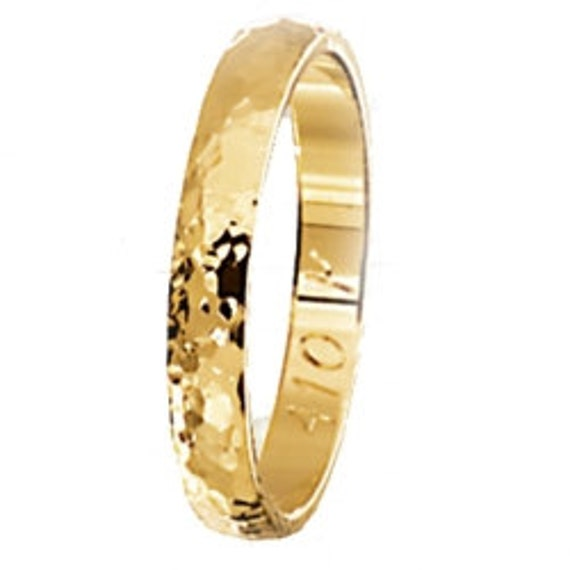 Gold Wedding Band, Hammered Gold Band, Wedding Band, Mens Wedding Band, 14 karats Band Ring, 3 mm Band Ring, Solid Gold Band, Hammered Ring