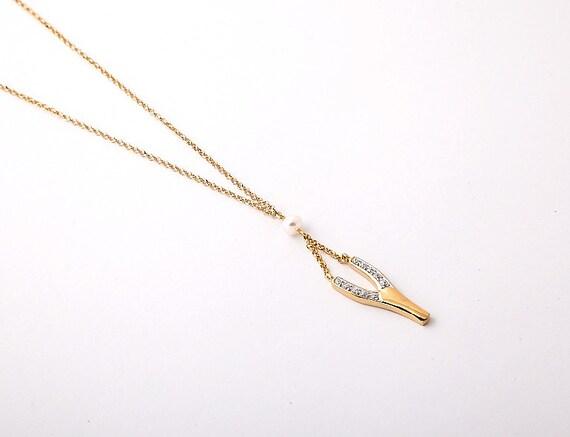 Slingshot Necklace, Wishbone Slingshot, Y-necklace, Y-shape necklace,  Y-initial letter, Silver Slingshot, Rhinestone Slingshot