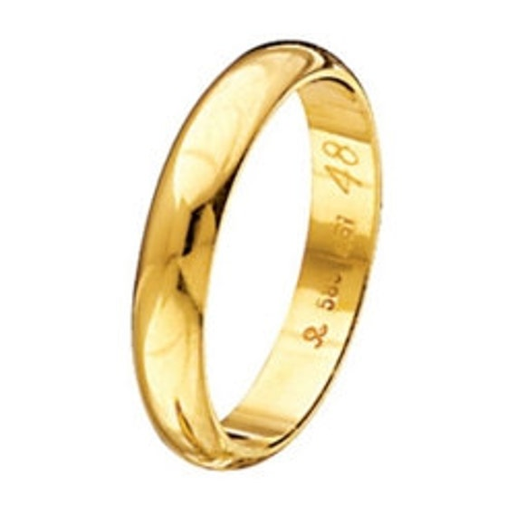 Wedding Band, Gold Wedding Ring, Wide Gold Band, Engraved Band, Mens Wedding Band, Classic Band, 3,60 mm Band Ring, Solid Gold Band