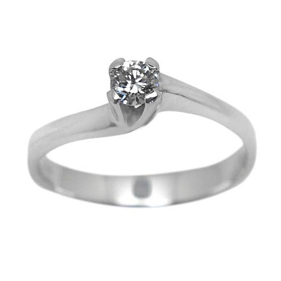 Diamond Solitaire Ring, Diamond Ring, Engagement Ring, Wedding Ring, Genuine Diamond 0.26ct, Promise Ring, Solitaire Ring, 18k Gold