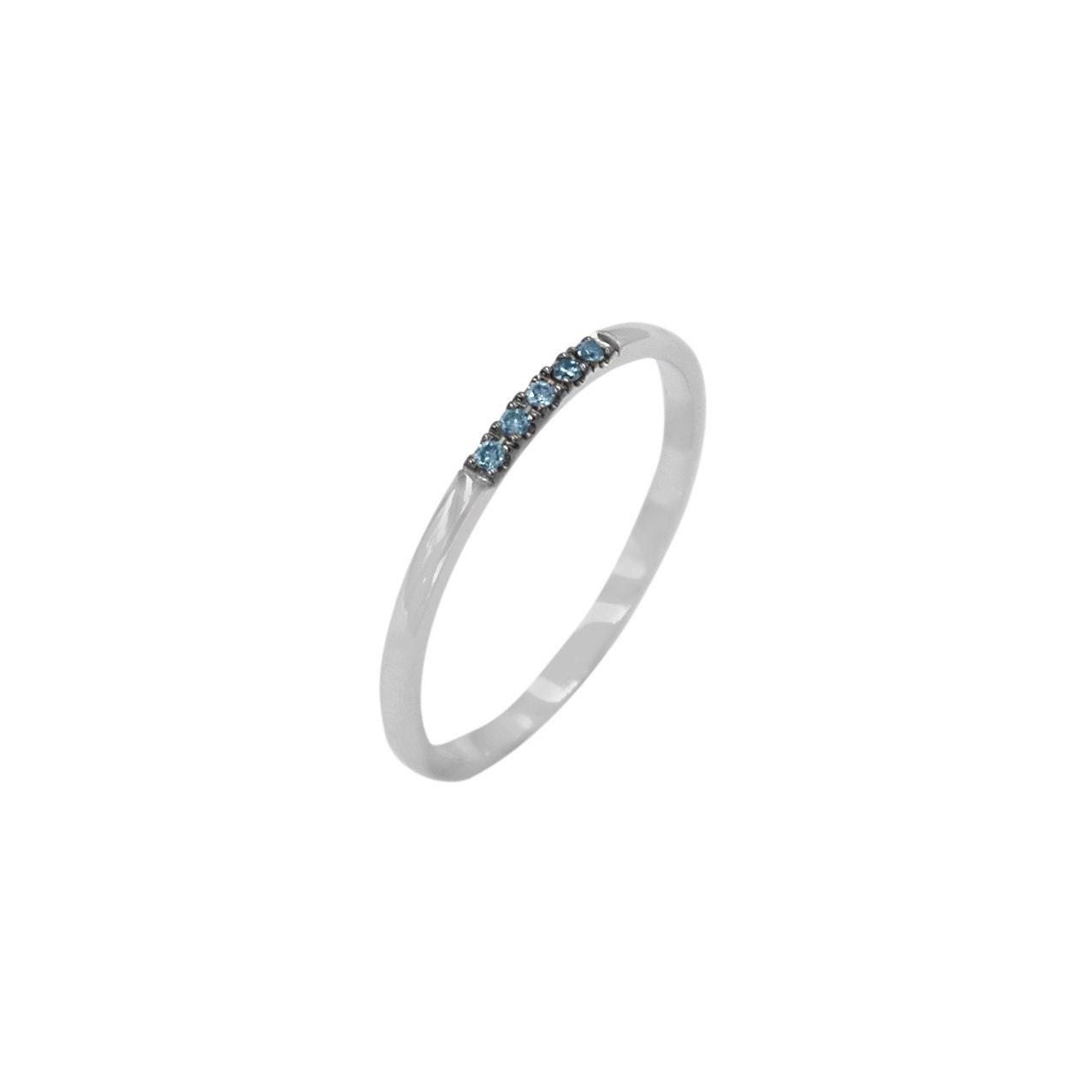 Engagement Ring Diamond Wedding Ring 1 mm Ring Thin Wedding Ring Blue Diamond Ring 3 Diamonds Band Diamond Band Diamond Rings