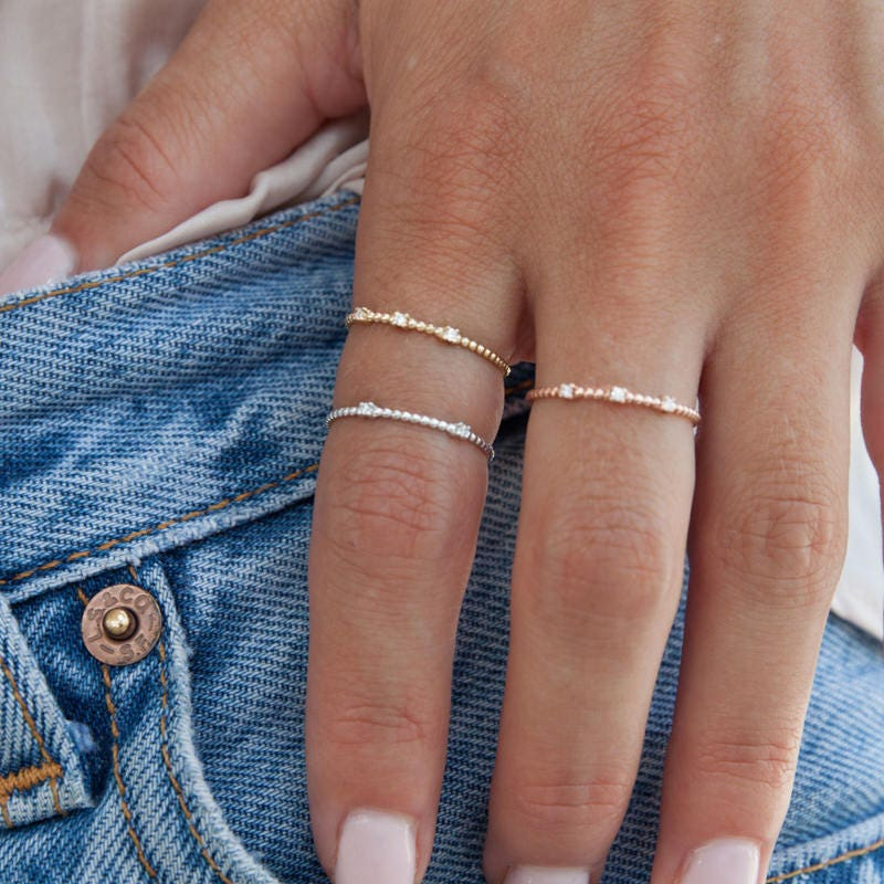 Simple Gold Ring Thin Gold Ring Gold Stacking Ring Dainty Gold Ring 14k Gold Ring Gold Filled Ring Set of  3 Gold Rings