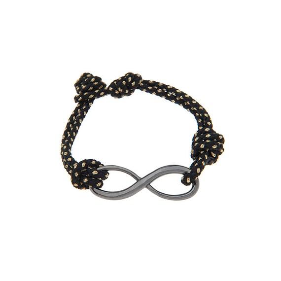 Infinity Bracelet, Silver Infinity, Infinity Rope Bracelet, Mens Bracelet, Infinity Charm, Friendship bracelet, Unisex Bracelet