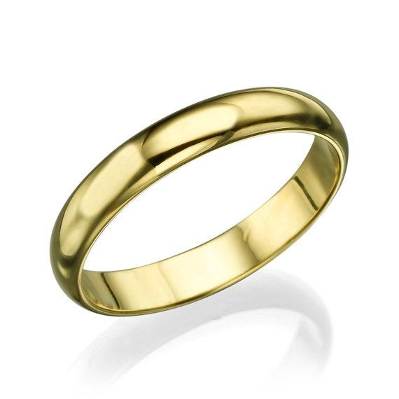Wedding Band, Gold Band, Simple Band Ring, Mens Wedding Band, Classic Band, 3,60 mm Band Ring, Solid Gold Band, Engraved Ring, 14karat band