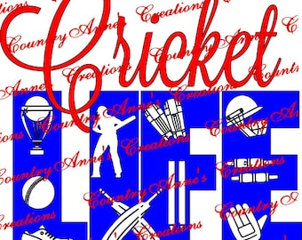 "SVG PNG DXF Eps Ai Wpc Cut file for Silhouette, Cricut, Pazzles, ScanNCut  -""Cricket Life""  svg"