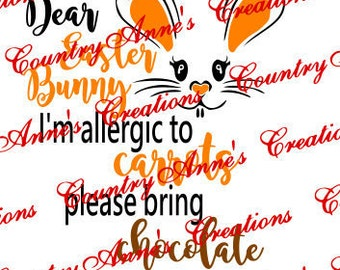 SVG PNG DXF Eps Ai fcm Wpc Cut file for Silhouette, Cricut, Pazzles  - Allergic to carrots svg