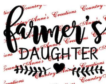 "SVG PNG DXF Eps Ai fcm Wpc Cut file for Silhouette, Cricut, Pazzles  -""Farmer's Daughter"" svg"