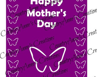 """SVG PNG DXF Eps Ai Wpc Cut file for Silhouette, Cricut, Pazzles, ScanNCut - """"3D Mother's day Card Topper"""" svg"""