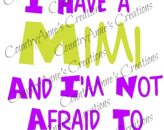 SVG PNG DXF Eps Ai Wpc Cut file for Silhouette, Cricut, Pazzles  - Back Off I have a Mimi svg