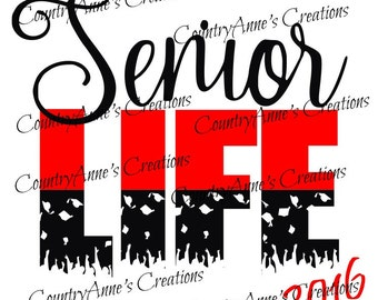 "SVG PNG DXF Eps Ai Wpc Cut file for Silhouette, Cricut, Pazzles, ScanNCut  -""Senior Life""  svg"