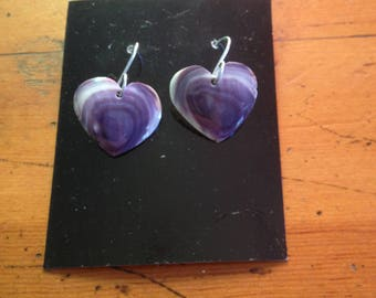 Wampum Large Heart Earrings